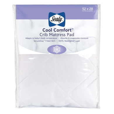 Sealy Cool Comfort Crib Mattress Pad - Posh Baby Co.