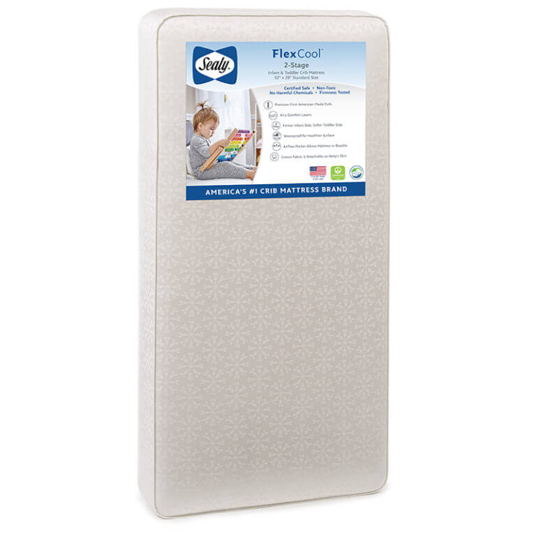 Sealy FlexCool 2-Stage Crib and Toddler Mattress - Posh Baby Co.