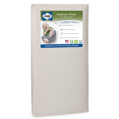 Sealy Soybean Plush Foam Core Crib and Toddler Mattress - Posh Baby Co.