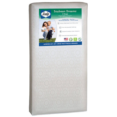 Sealy Soybean Dreams 2-Stage Crib and Toddler Mattress - Posh Baby Co.