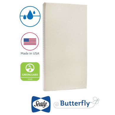 Sealy Butterfly Cotton Crib & Toddler Mattress-in-a-Box - Posh Baby Co.