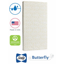 Load image into Gallery viewer, Sealy Butterfly Waterproof Crib & Toddler Mattress-in-a-Box - Posh Baby Co.