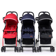 Load image into Gallery viewer, Pali Tre.9 Denim Attitude Stroller - Miami Red - Posh Baby Co.