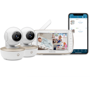 "Motorola MBP855 CONNECT-2 - 5"" Video HD Wi-Fi Baby Monitor with 2 Cameras"