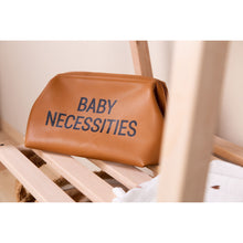 Load image into Gallery viewer, ChildHome Baby Necessities Toiletry Bag - Leatherlook Brown