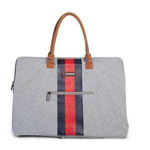 Mommy Bag Stripes Diaper Bag - Limited Edition Grey With Red/Blue Stripe