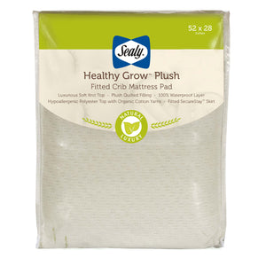 Sealy Healthy Grow Plush Crib Mattress Pad - Posh Baby Co.