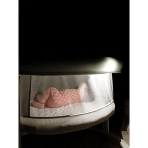 Micuna Smart Luce Wooden Bassinet With Light And Fabric - Posh Baby Co.