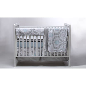 Pali Stella 4-Piece Crib Bedding Set - Blue - Posh Baby Co.