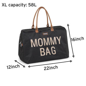 Mommy Bag - Big Black and Gold - Posh Baby Co.