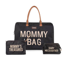 Load image into Gallery viewer, Mommy Bag Diaper Bag Bundle - Black and Gold