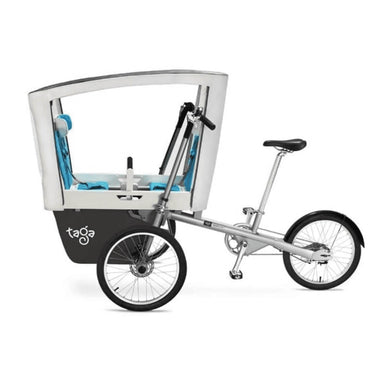 Taga 2.0 Family Cargo Bike - Single Seater + Royal Canopy - Posh Baby Co.