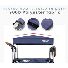 Load image into Gallery viewer, Keenz Stroller Wagon – 7S Pull/Push Wagon Stroller - Blue - Posh Baby Co.