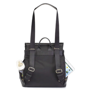 Storksak St. James Convertible Leather Backpack Diaper Bag