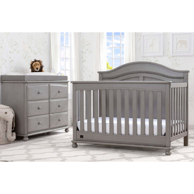 Delta Children Simmons Kids Bedford 5-Piece Baby Nursery Furniture Set - Storm - Posh Baby Co.