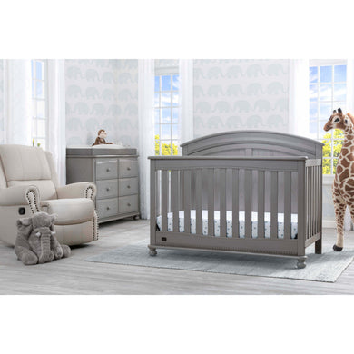 Delta Children Simmons Kids Ainsworth 5-Piece Baby Nursery Furniture Set - Storm - Posh Baby Co.