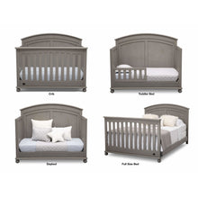 Load image into Gallery viewer, Delta Children Simmons Kids Ainsworth 5-Piece Baby Nursery Furniture Set - Storm - Posh Baby Co.