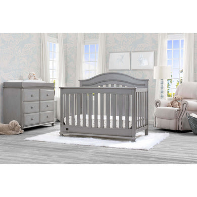 Delta Children Simmons Kids Bristol 5-Piece Baby Nursery Furniture Set - Storm - Posh Baby Co.