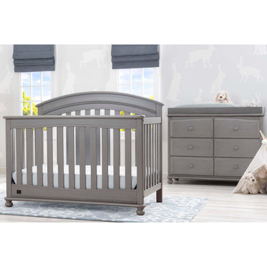 Delta Children Simmons Kids Aden 5-Piece Baby Nursery Furniture Set - Storm - Posh Baby Co.