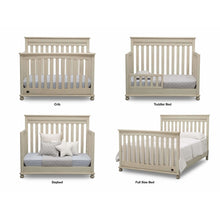 Load image into Gallery viewer, Delta Children Simmons Kids Franklin 5-Piece Nursery Furniture Set - Antique White - Posh Baby Co.