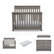 Load image into Gallery viewer, Delta Children Simmons Kids Franklin 5-Piece Nursery Furniture Set - Storm - Posh Baby Co.