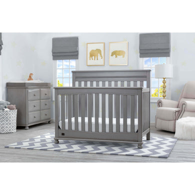 Delta Children Simmons Kids Franklin 5-Piece Nursery Furniture Set - Storm - Posh Baby Co.