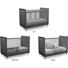 Load image into Gallery viewer, Delta Children Simmons Kids Avery 5-Piece Baby Nursery Furniture Set  – Charcoal Grey - Posh Baby Co.