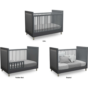 Delta Children Simmons Kids Avery 5-Piece Baby Nursery Furniture Set  – Charcoal Grey - Posh Baby Co.
