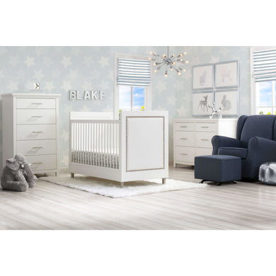 Delta Children Simmons Kids Avery 5-Piece Baby Nursery Furniture Set – Bianca White - Posh Baby Co.