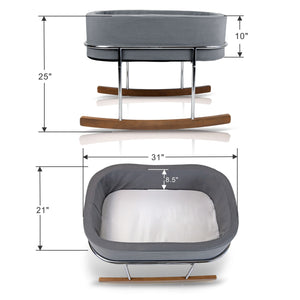 Wonderfold Modern Design Gentle Rocking Baby Bassinet Cradle RB01