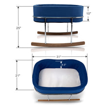 Load image into Gallery viewer, Wonderfold Modern Design Gentle Rocking Baby Bassinet Cradle RB01