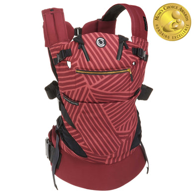 Contours Journey 5-in-1 Baby Carrier - Starburst Bordeaux - Posh Baby Co.