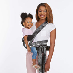 Contours Cocoon Hybrid Buckle Tie 5-in-1 Baby Carrier - Galaxy Black - Posh Baby Co.