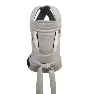 Contours Cocoon Hybrid Buckle Tie 5-in-1 Baby Carrier - Heather Grey - Posh Baby Co.