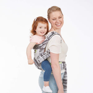 Contours Cocoon Hybrid Buckle Tie 5-in-1 Baby Carrier - Lunar Grey - Posh Baby Co.