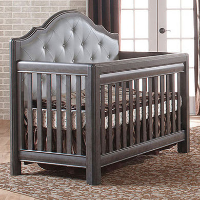 Pali Cristallo Forever 4-In-1 Convertible Crib in Granite - Vinyl Gray Panel - Posh Baby Co.
