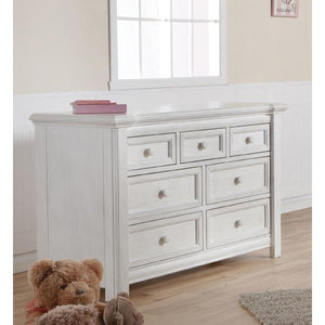 Pali Cristallo Double Dresser in Vintage White - Posh Baby Co.
