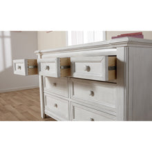 Load image into Gallery viewer, Pali Cristallo Double Dresser in Vintage White - Posh Baby Co.