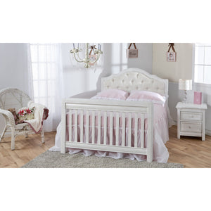 Pali Cristallo Forever 4-In-1 Convertible Crib in Vintage White - White Fabric - Posh Baby Co.