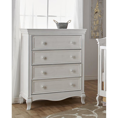 Pali Diamante 4 Drawer Dresser in Vintage White - Posh Baby Co.