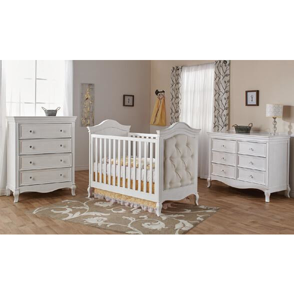 Pali Diamante Classico Crib in Vintage White - Posh Baby Co.
