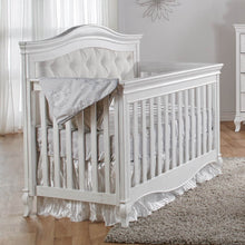 Load image into Gallery viewer, Pali Diamante 3-Piece Nursery Furniture Set in Vintage White - Beige Fabric Panel - Posh Baby Co.