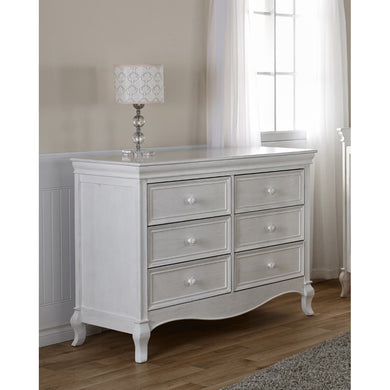 Pali Diamante Double Dresser in Vintage White - Posh Baby Co.