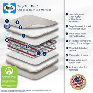 Sealy Baby Firm Rest Crib and Toddler Mattress - Posh Baby Co.