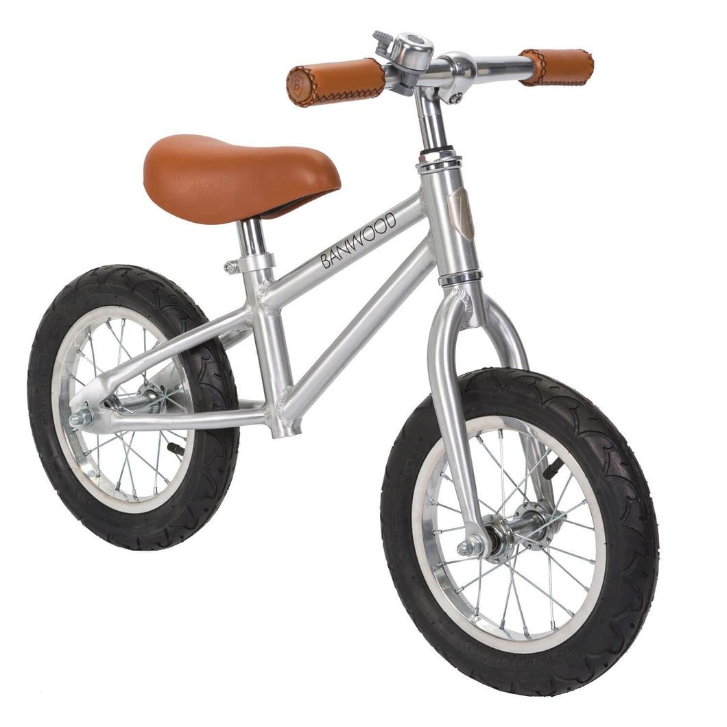 Banwood First Go Kids Balance Bike - Chrome Edition! - Posh Baby Co.