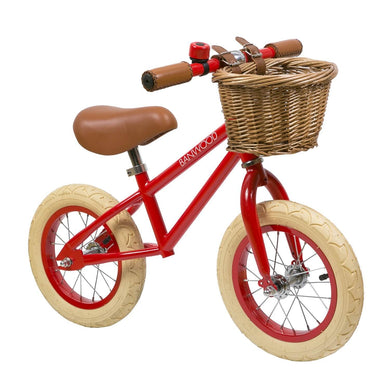 Banwood First Go Kids Balance Bike - Red - Posh Baby Co.