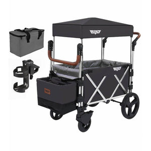 Keenz 7S Stroller Wagon - Black - Posh Baby Co.