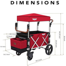 Load image into Gallery viewer, Keenz Stroller Wagon – 7S Pull/Push Wagon Stroller - Red NEW!