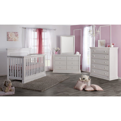Pali Modena Collection 3-Piece Nursery Furniture Set - Vintage White - Posh Baby Co.