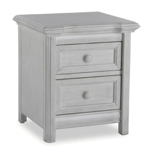 Pali Cristallo Night Stand in Vintage White - Posh Baby Co.